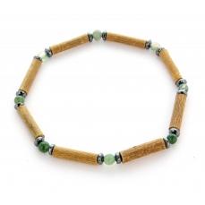 Bracelet de Noisetier | Agate Mousse | Hématite | Modèle 1 | 18cm