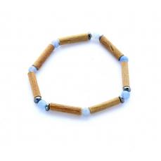 Bracelet de Noisetier | Aventurine bleue | Hématite | Modèle 1 |14cm