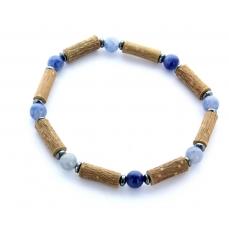 Bracelet de Noisetier | Aventurine bleue | Modèle 2 | 18CM