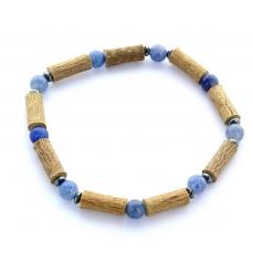 Bracelet de Noisetier | Aventurine bleue | Modèle 2 | 19CM