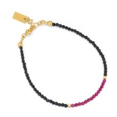 Bracelet en spinelle et rubis sur vermeil.
