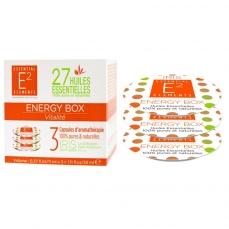 Energy Box Trio de Capsules aux 27 Huiles Essentielles naturelles pour une Vitalité retrouvée - Diffuseur IRIS de E2 Essential Elements