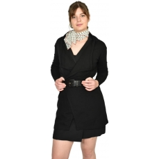 Cardigan en pure laine MERINOS COOLMAN - noir