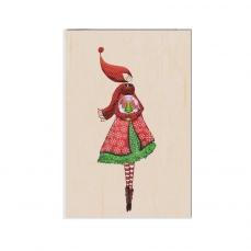 Carte de vœux Bonne Année en bois Rêves d'hiver