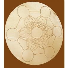 Cube de Métatron rond à tout faire en laiton D.10.5 cm