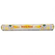 "Encens Tulasi Sarathi International Inc. "" White Rose"" Boite Hexagonales 20 Batonnets ""Lotus"""