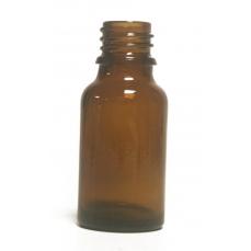 Bouteille en  verre -15 ml- Ambre  pour huile essentielle  bouchon +codigoutte huile essentielle.