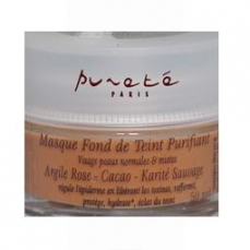 Masque Fond de Teint Purifiant -Argile Rose - Cacao - Karité Sauvage - 50 Ml