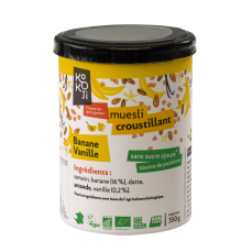 Muesli croustillant banane vanille - 350 g