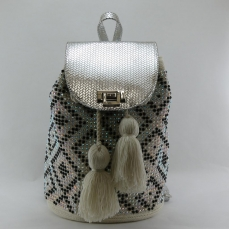 Mochila Wayuu Sac à dos Blanc