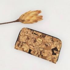 Portefeuille en liège doré, idée cadeau vegan pour Elle