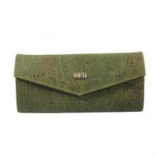 Portefeuille en liège vert Manon