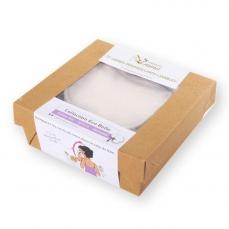 Recharge 10 carrés démaquillants écru en coton bio biface - gamme eco belle les Tendances d'Emma