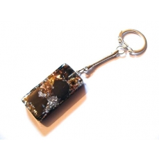 Rectangle Shungite Porte Clefs Argente