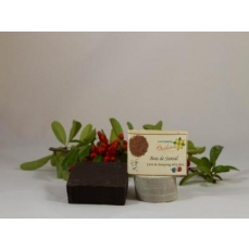 Shampoing solide ou carré de shampoing Bois de Santal Rouge environ 120 g