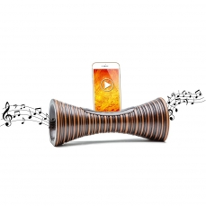 ENCEINTE sans BLUETOOTH - Amplificateur naturel ECOLOGIQUE,station d'accueil Iphone,haut-parleur passif en bois,cadeau écoresponsable homme et femme