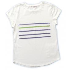 Tee-shirt écru coton biologique rayé