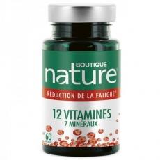12 Vitamines et 7 minéraux - Tonus - 60 gélules - Boutique Nature