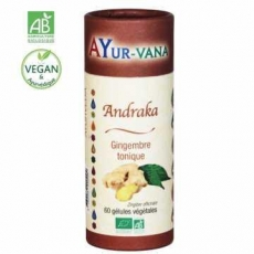 Andraka Bio (Gingembre) - 60 gélules - Ayurvana