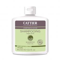 CATTIER - Shampoing Cheveux gras bio Argile verte 250ml