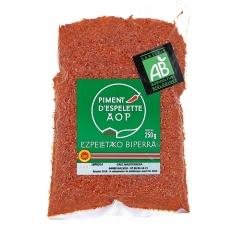Piment d'Espelette AOP Bio, sachet 250 g