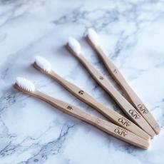 Brosse à dents medium adulte- bambou