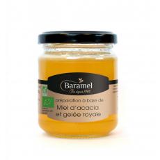 Miel d'Acacia et Gelée Royale biologique 250gr - Baramel
