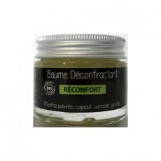 Baume décontractant - 30 ml. Aux huiles essentielles et végétales Bio. Corps et Articulations
