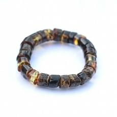 Bracelet en ambre noir homme femme