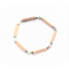 Bracelet de Noisetier | Agate Indienne | Hématite | Modèle 2 |14cm