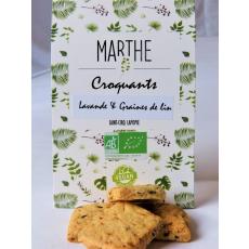 Biscuits Bio Vegan Lavande Graine de Lin 100g