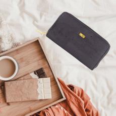 portefeuille en liège vegan noir pour femme