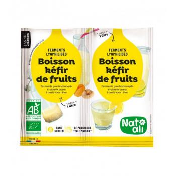 Ferments pour Kéfir de fruits Bio - 2 X 5 g