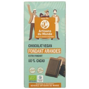 Chocolat vegan fondant amandes
