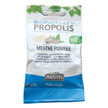Biopastilles propolis & menthe poivrée