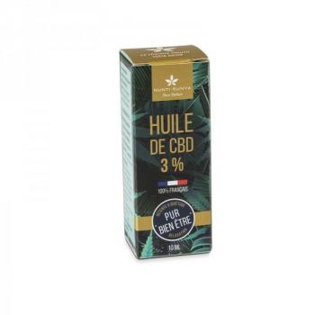 Huile de CBD 3 % Bio - 10 ml