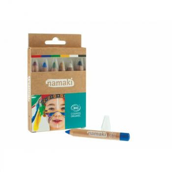 Kit crayons de maquillage Bio Arc en ciel Blanc - Namaki