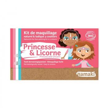 Kit de maquillage Bio 3 couleurs Princesse & licorne