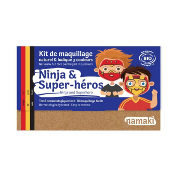 Kit de maquillage Bio - 3 couleurs - Ninja & super héros