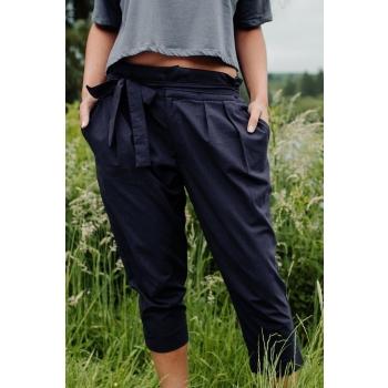 Pantalon coton biologique, couleur bleu marine