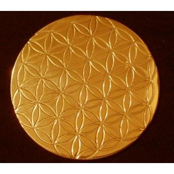 Rond à tout faire Laiton Fleur de vie 10.5 cm Dessous de verre