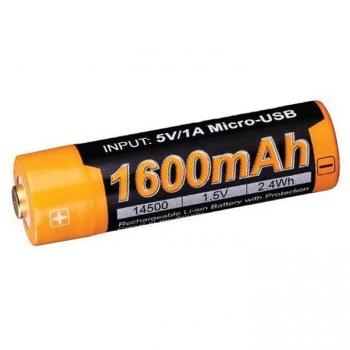 Accu 14500 Li-ion 1600 mAh - 1,5 V - USB