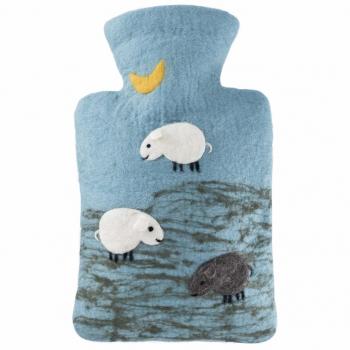 Bouillotte fabriquée à la main Moutons 100% mérinos