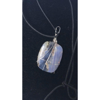 Amulette Agate Mousse Violette SWEET CONNECTION
