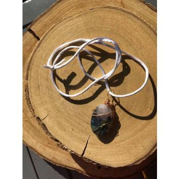 Amulette E-pure Agate mousse Violette