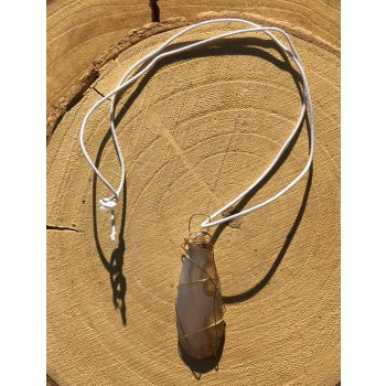 Amulette Simply Me Agate mousse irisée rare