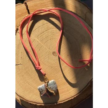 Amulette Reborn Agate Mousse Violette-Rare