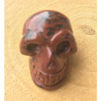 Mini Crâne de Méditation en Obsidienne Mahogani