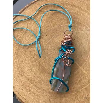 Amulette Infiny Mare Agate neige Irisée