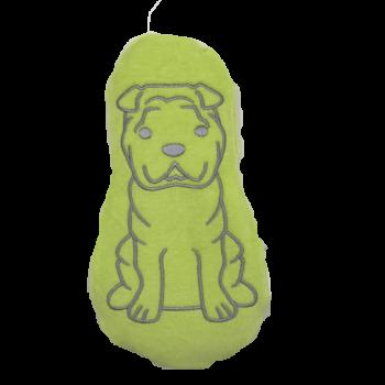 Doudou bouillotte - Chien Vert